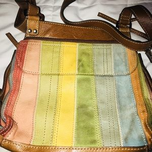 Fossil Colorful Organizer Shoulder Purse ✨✨